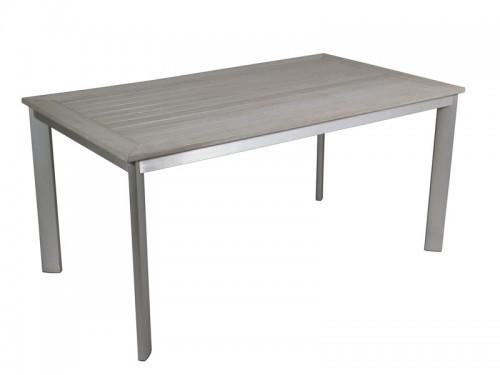 Mesa para jard n de aluminio con soporte de sint tico - Mesas de jardin de aluminio ...