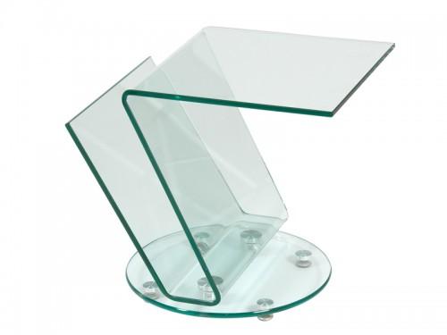 Mesita revistero de cristal transparente revisteros online for Mesa cristal exterior