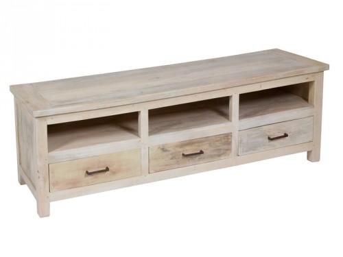 Mesa de television vintage de madera mueble tv online - Mueble rustico para tv ...