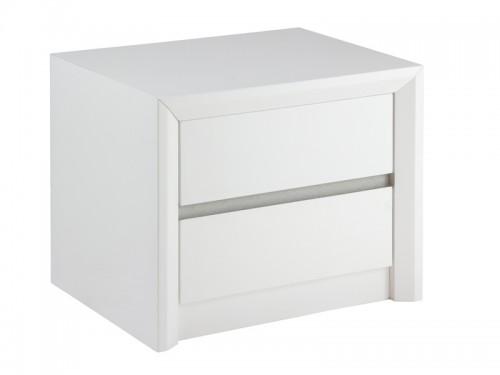 Mesita de noche minimalista lacada en blanco - Mesitas de noche modernas blancas ...