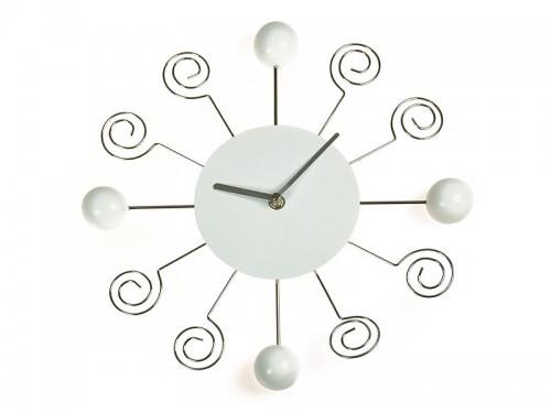 Reloj de pared moderno con bolas y espirales - Relojes de pared modernos ...