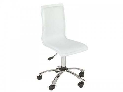 Silla escritorio blanca de pvc con ruedas sillas oficina for Ruedas de goma para sillas de oficina