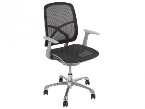 Silla de despacho con ruedas sillas de oficina online for Ruedas para sillas de escritorio