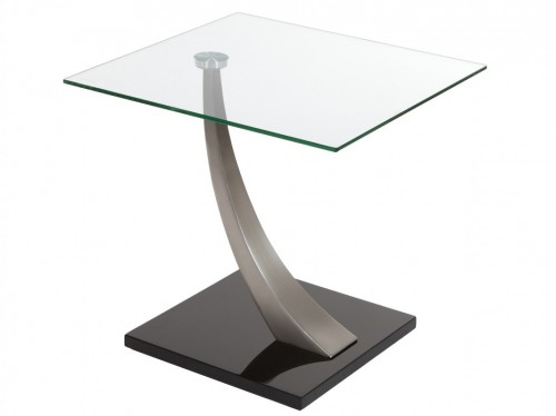 Mesa telefonera de cristal y acero estilo moderno for Mesa telefonera