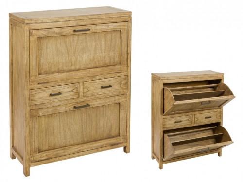 Mueble para zapatos de madera estilo r stico zapateros online - Mueble zapatero rustico ...