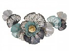 Deco pared metal flores colores