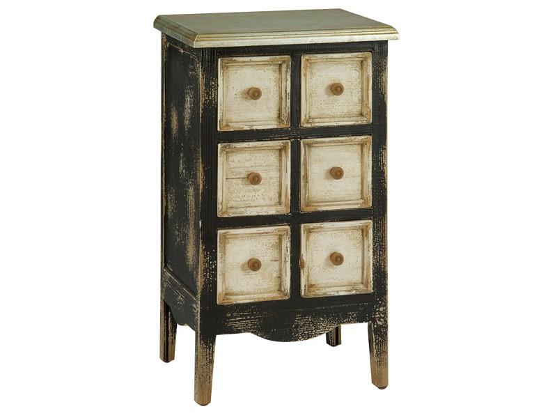 Mueble auxiliar vintage con 6 cajones muebles online for Muebles industriales online