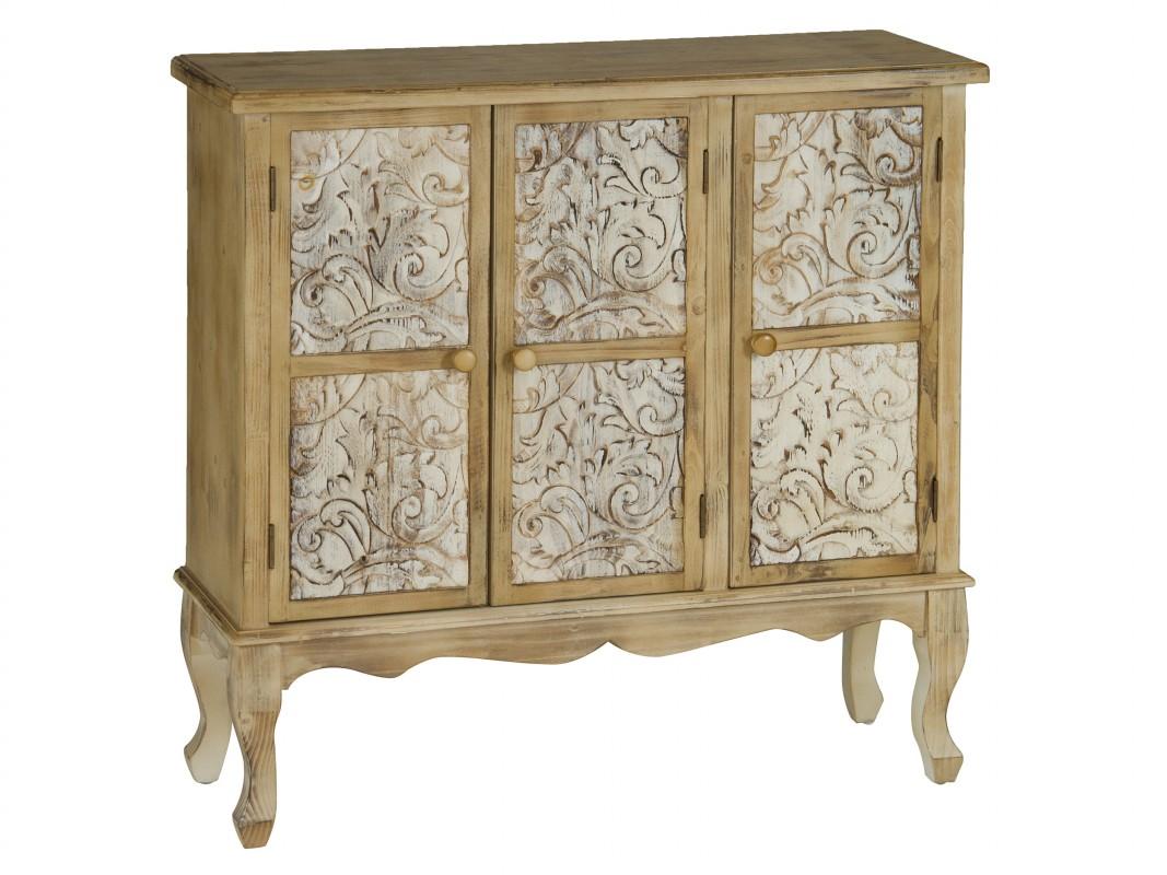 Aparador vintage peque o de madera con acabado envejecido for Eden del mueble