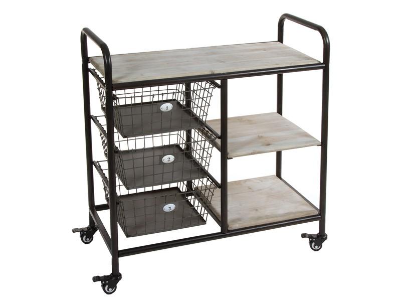Mueble auxiliar con ruedas loft for Mueble auxiliar con ruedas