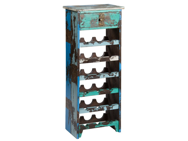 Mueble botellero vintage de madera de java botelleros vino - Mueble botellero cocina ...