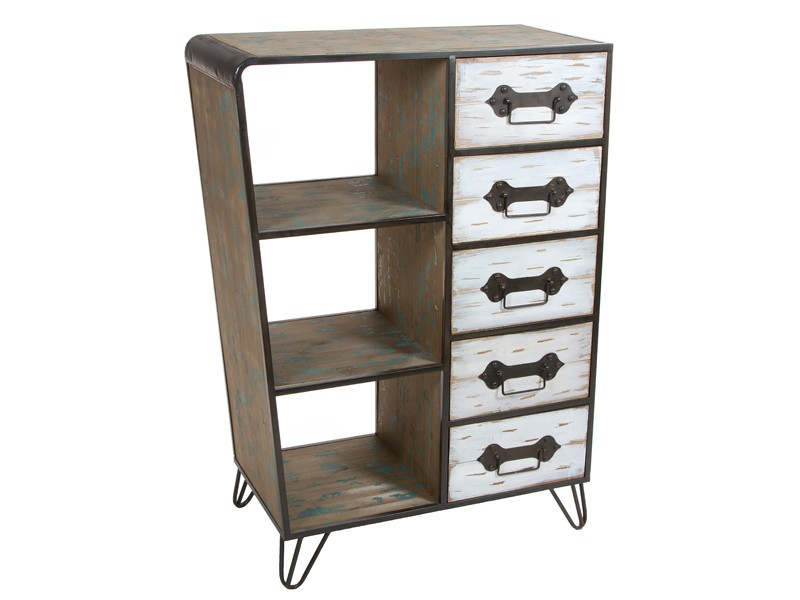 Mueble auxiliar industrial con cajones y estantes - Mueble auxiliar con ruedas ...