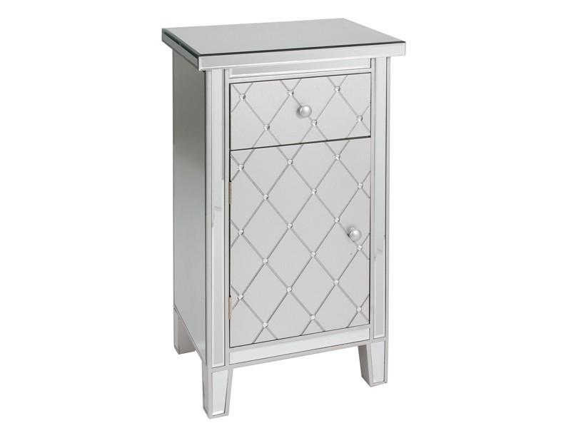 Mueble para tel fono de madera y espejo mesas auxiliares for Espejos de pared madera