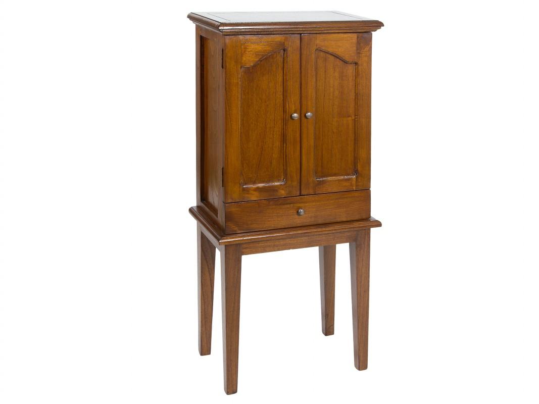 Aparador Mdf Provençal ~ Armario joyero de pie con espejo de madera estilo colonial