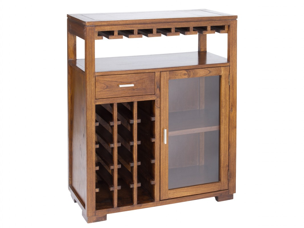 mueble bar de madera color nogal forest