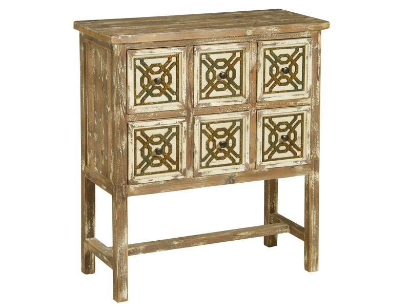 Cajonera industrial de madera decapada muebles online for Muebles con cajones de madera