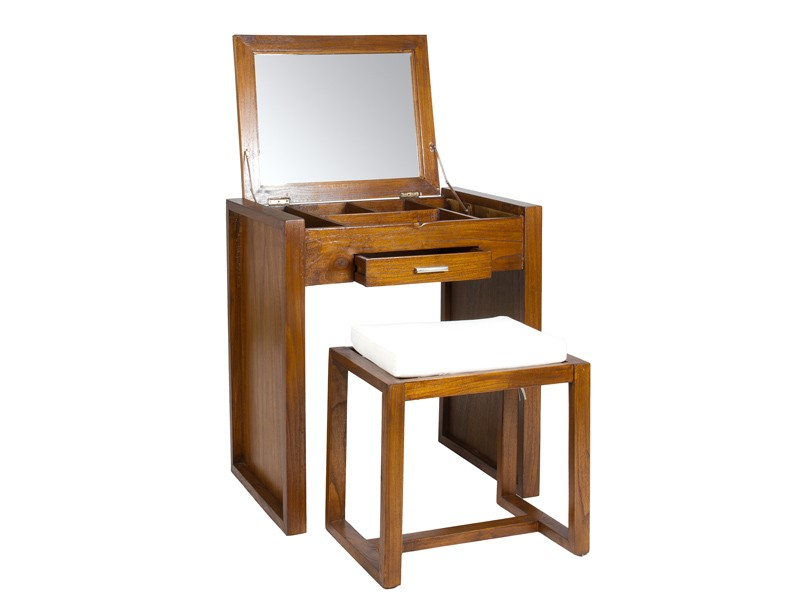 mueble tocador con banqueta mueble neceser de madera