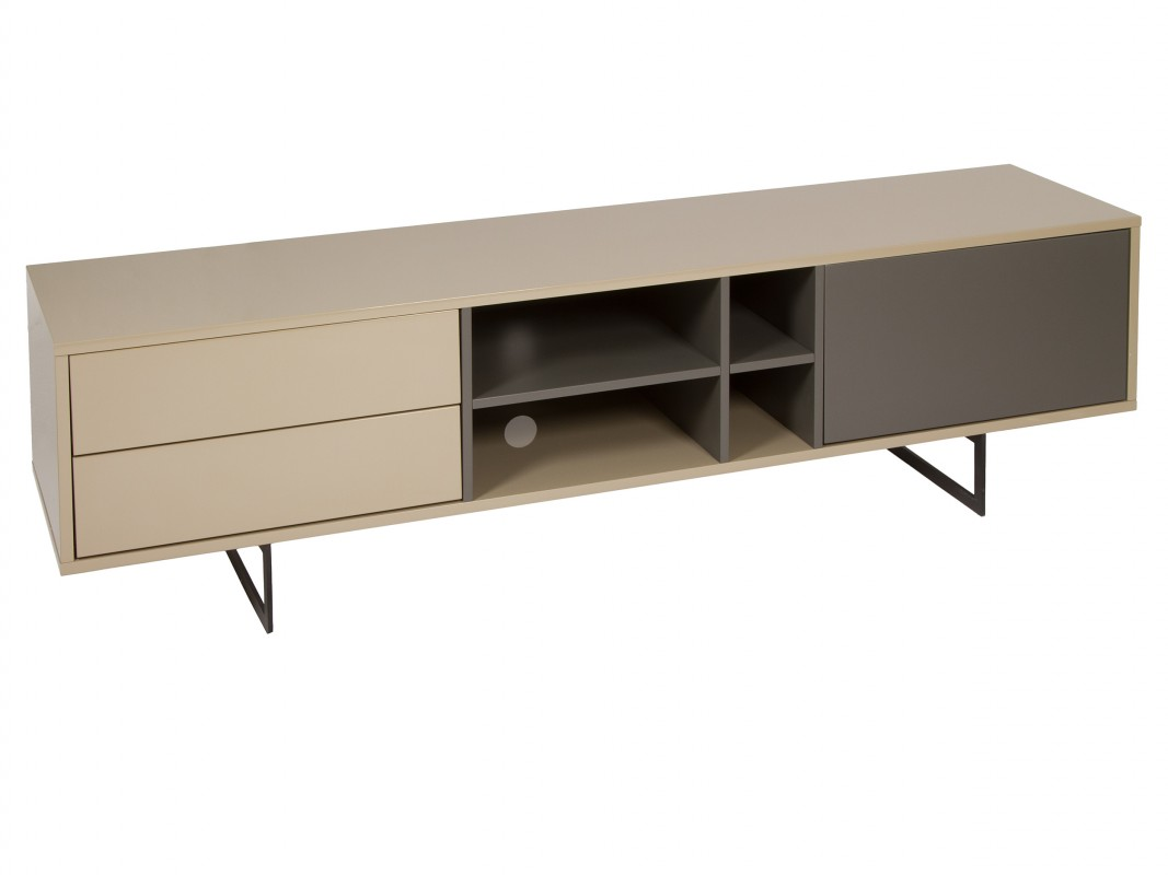 Mueble para tv de dise o moderno lacado brillo sin tiradores for Muebles television diseno