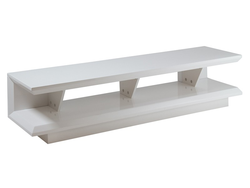Mueble tv moderno blanco lacado mesas para televisi n for Mueble para tv blanco
