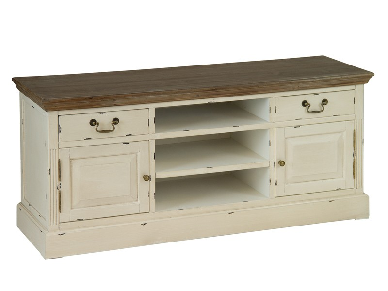 Mueble de tv vintage de madera mesas para televisi n for Mueble tv vintage