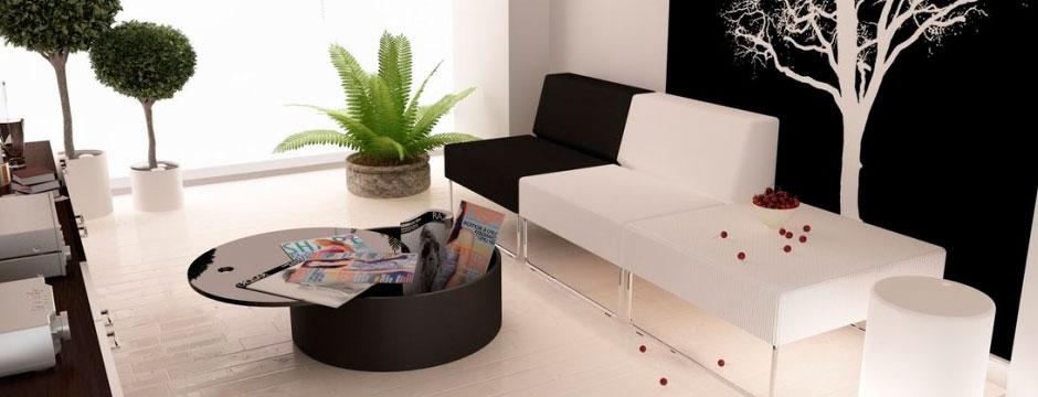Decorar en blanco y negro para crear ambientes elegantes