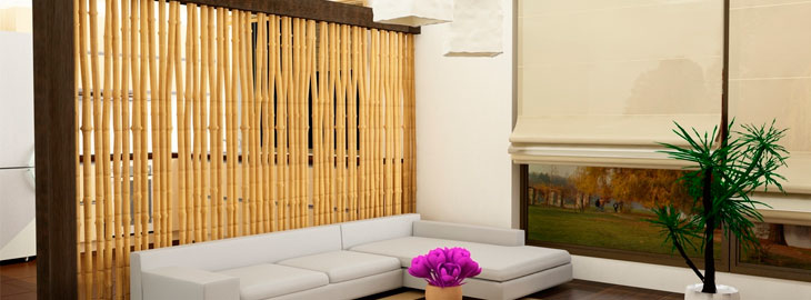 Decorar con ca as de bamb natural en interior y exterior - Cana bambu decoracion ...