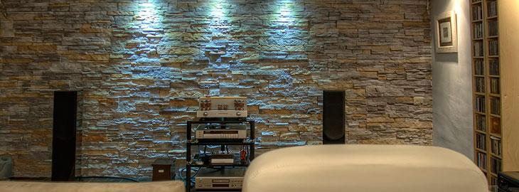 Paredes y muros de piedra natural en la decoraci n del hogar - Decoracion paredes de piedra ...