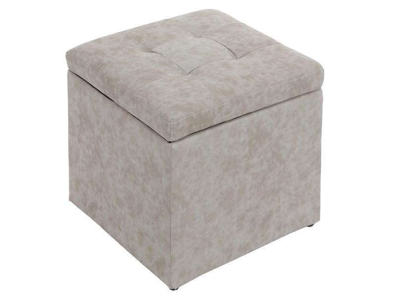 Puff tapizado cuadrado con ba l pufs venta online for Puff cuadrados