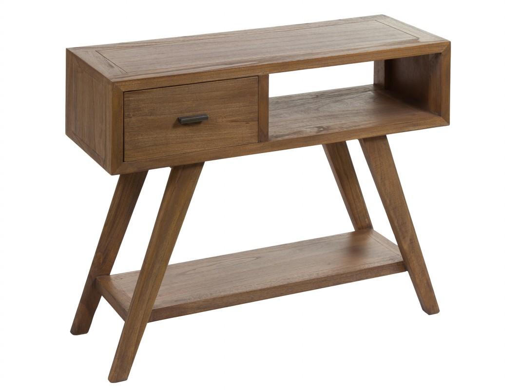 Recibidor escandinavo de madera consolas de entrada online - Entradas de madera ...