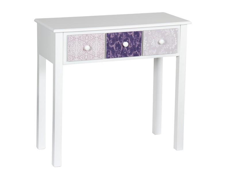 Recibidor shabby chic blanco estampado muebles de entrada - Muebles shabby chic online ...
