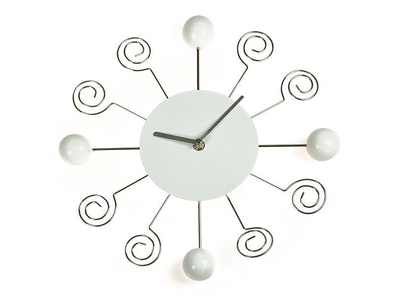 Reloj de pared moderno con bolas y espirales for Relojes de salon modernos