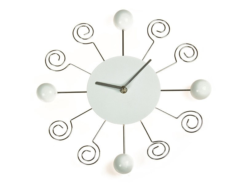 Reloj de pared moderno con bolas y espirales - Relojes de pared modernos para salon ...