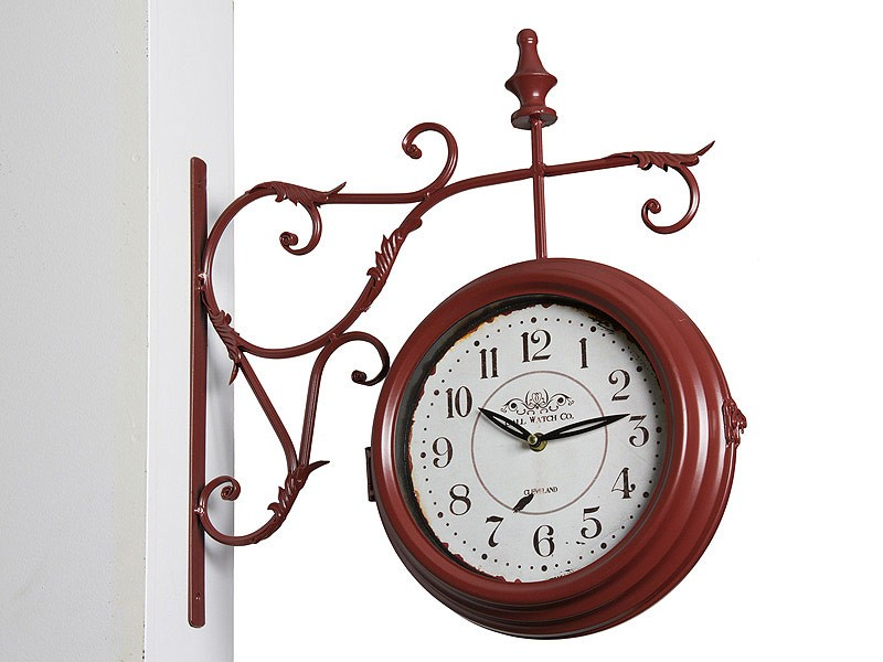 Reloj pared estaci n de tren rojo venta relojes de pared - Reloj decorativo de pared ...