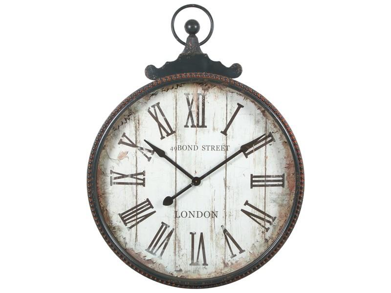 Reloj de pared grande estilo vintage de n meros romanos - Relojes rusticos de pared ...