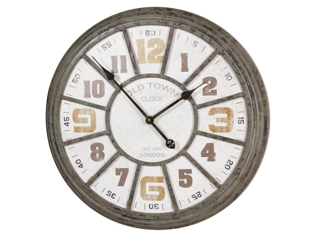 Reloj de pared hierro vintage industrial pintado con - Reloj pared vintage ...
