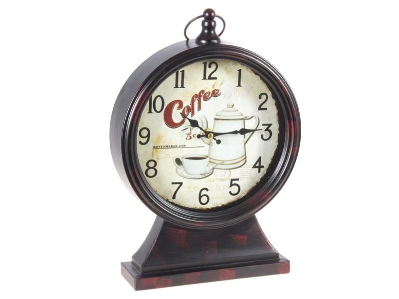 Sobremesa Vintage Coffee Reloj Time De iXukPZ