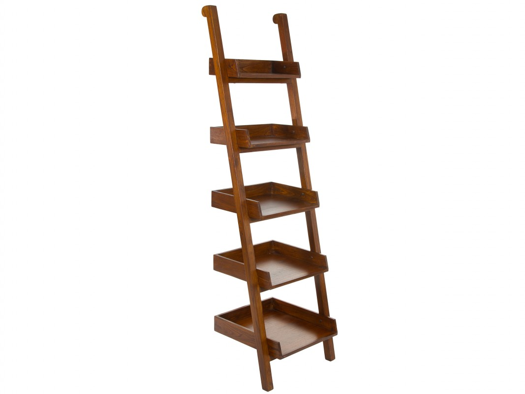 Revistero pared madera con forma de escalera venta online - Revisteros de pared ...