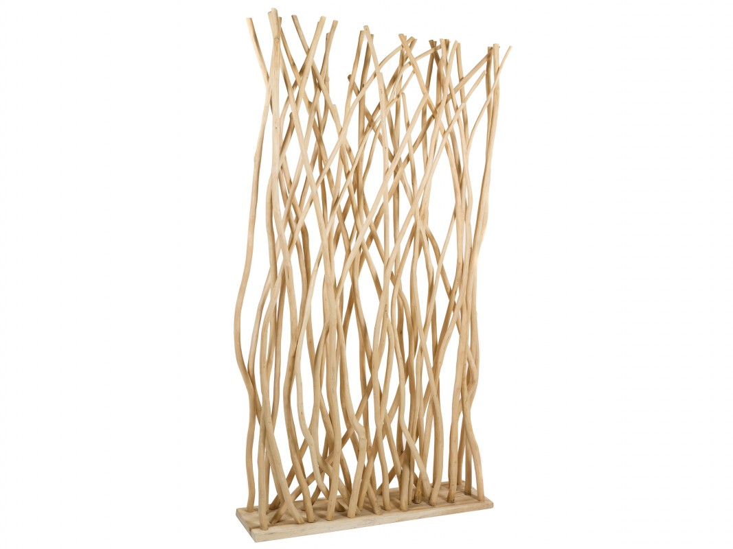 Separador de madera vallas con planchas de madera o metal - Separadores de ambientes de cristal ...