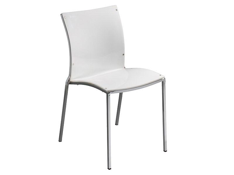Silla blanca de acr lico estilo moderno cat logo sillas for Sillas de comedor blancas modernas