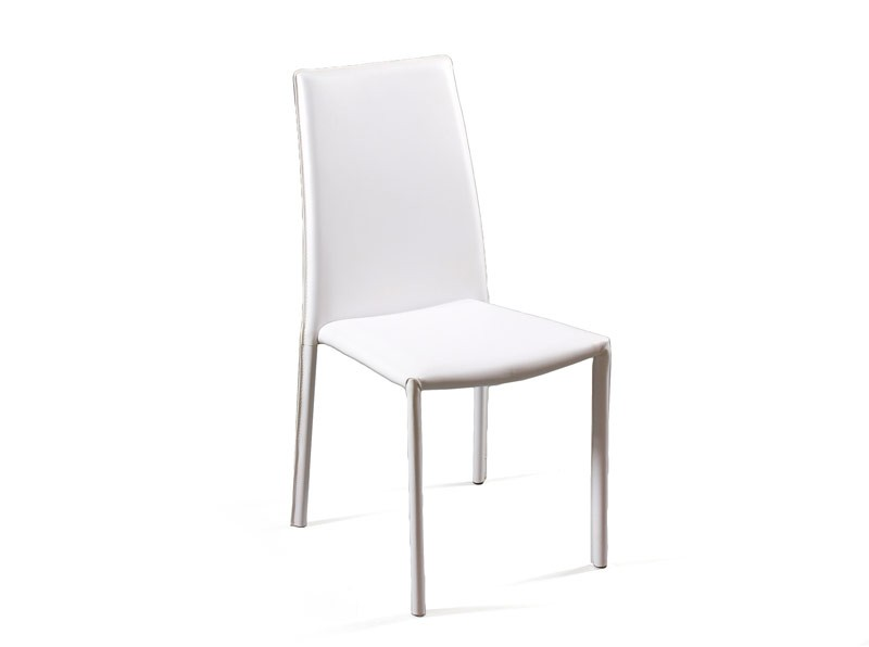 Conjunto mesa y 4 sillas para comedor color blanco for Sillas cocina blancas