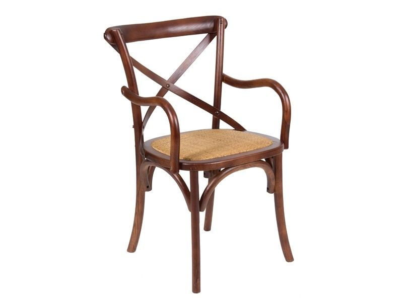 Silla cl sica de madera con reposabrazos venta de sillas for Sillas comedor clasicas