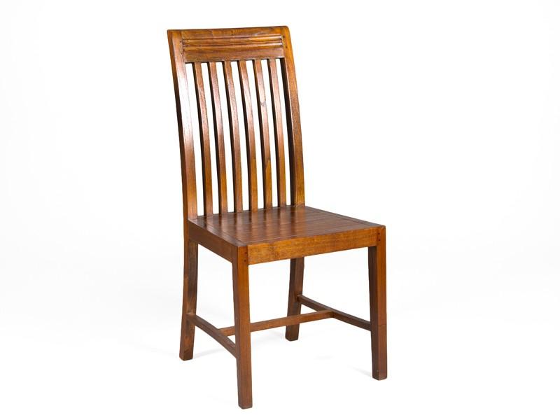 Silla para comedor estilo colonial de madera de mindi for Disenos de sillas de madera para comedor