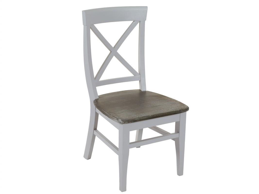 silla comedor vintage de madera de paulownia decapada