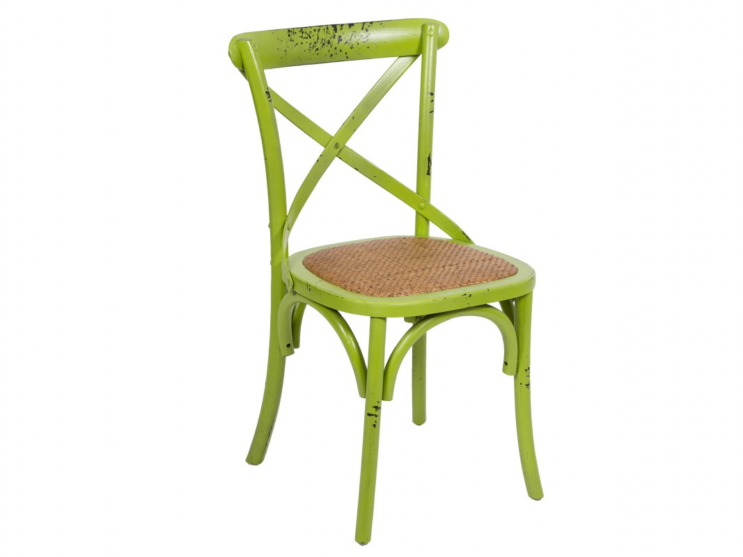 Silla cruceta vintage de madera decapada sillas vintage - Sillas vintage baratas ...
