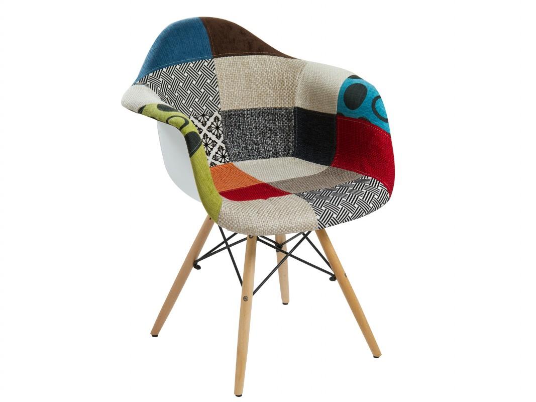 Silla eames patchowrk de pl stico tapizado oferta sillas for Sillas plastico diseno