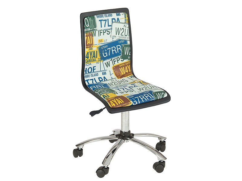 Silla de escritorio con ruedas estilo juvenil for Sillas escritorio juvenil