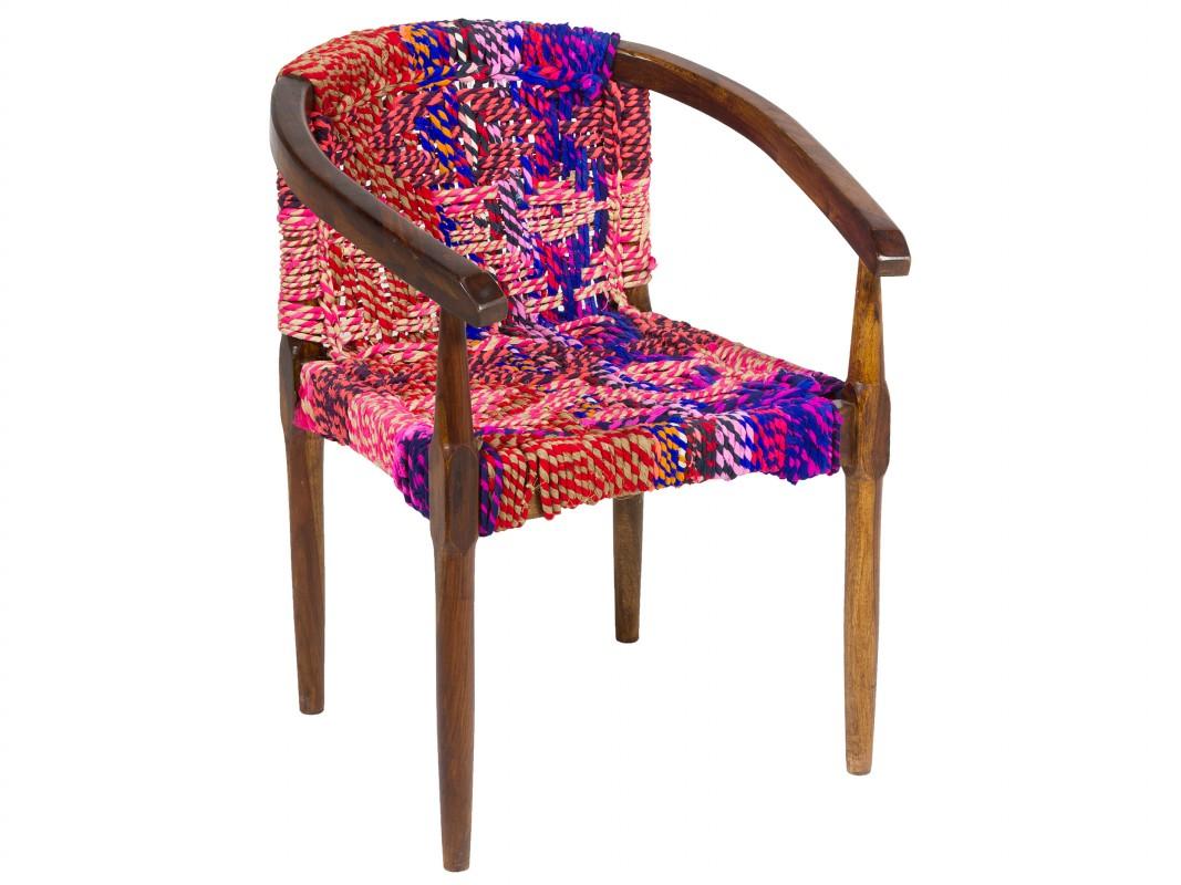 Silla hippie colores de cuerdas silla asiento cuerda - Cuerdas de colores ...