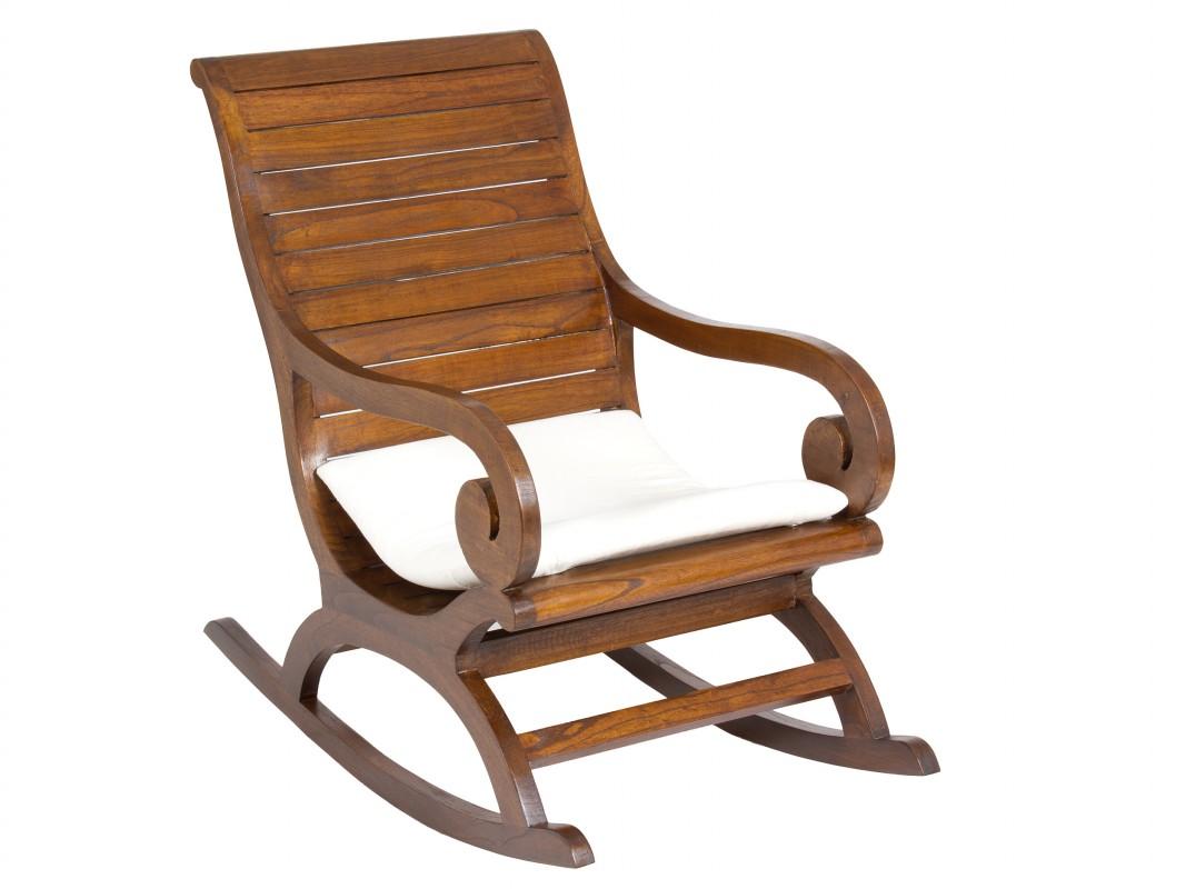silla mecedora de madera para comedor estilo colonial