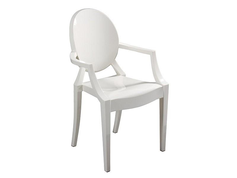 Silla r plica louis ghost de policarbonato transparente for Replicas de sillas
