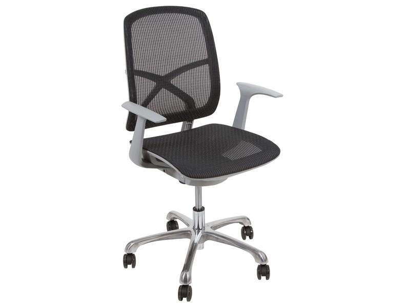 Silla de despacho con ruedas sillas de oficina online for Ruedas para sillas de oficina