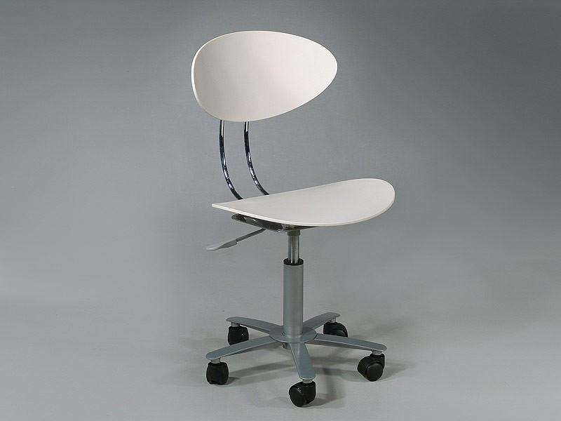 Silla de ordenador blanca con ruedas muebles oficina - Silla despacho blanca ...
